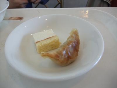 肉餃子はデザート?