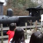 犬山の明治村に行ってきました。本物のSL(蒸気機関車)に乗って息子大はしゃぎ。